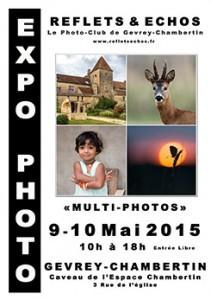 affiche EXPO Reflets & Echos 2015